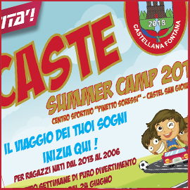 Novità: CASTE SUMMER CAMP 2019