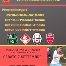 "Calcio: 1° Memorial ""ANNARUMMA"""